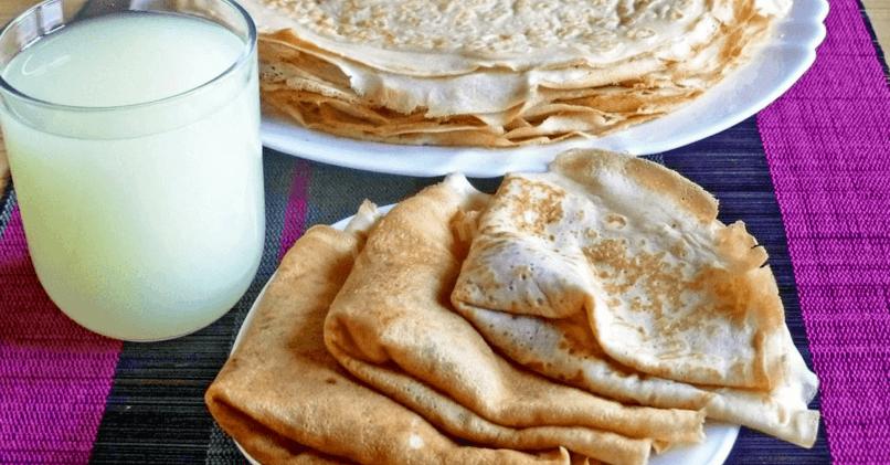 Блины без яиц на (молоке, кефире, воде, сыворотке)