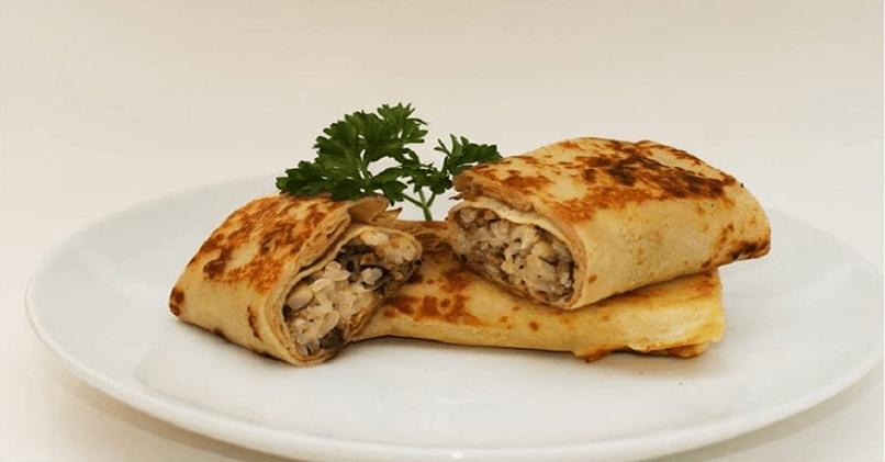 Блины с грибами и (курицей, яйцом, сыром, мясом)