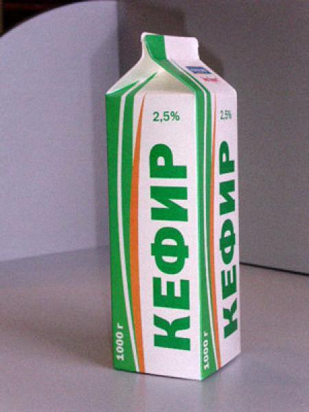 Коробка с кефиром 2,5
