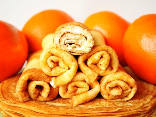Апельсиновые блины рецепт