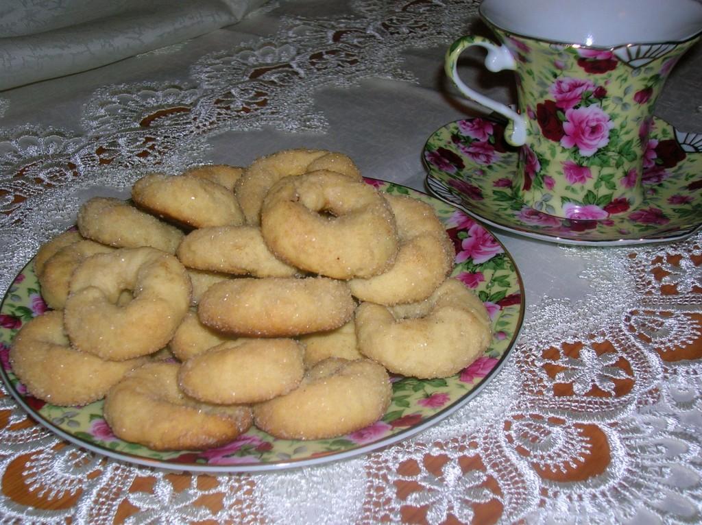 Итальянское печенье из творога с меренгами